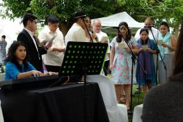 Montes Cousins singing our wedding anthem Bless Us All (Photo by Sarah Mendoza)