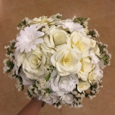 Another shot of the very well crafted bridal bouquet!